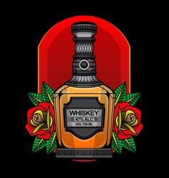 Whisky flash tattoo vector