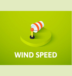 wind speed isometric icon isolated on color vector image