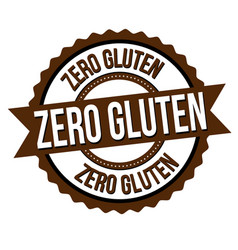 zero gluten label or sticker vector image