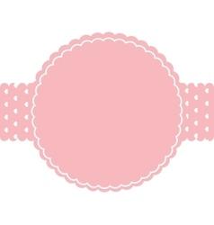Circle seal frame icon vector