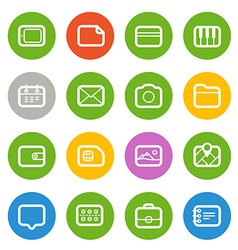 Different Web icons set isolated on white Flat vector image vector image