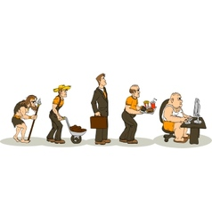 Evolution Of Obesity vector image vector image