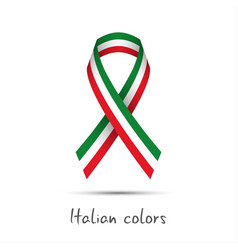 modern colored ribbon with the italian tricolor vector image