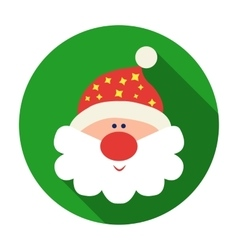 Santa Claus icon in flat style isolated on white vector image