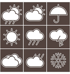 Weather signs vector image