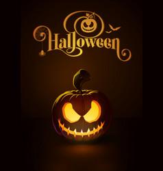 jack o lantern dark scary rag-doll vector image vector image