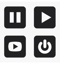 modern play icons set vector image