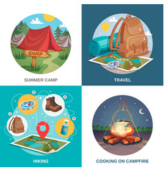 summer travel design concept vector image