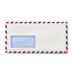 Air mail DL envelope with window for address vector image vector image