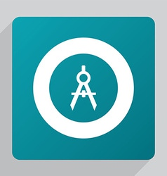 flat compasses icon vector image