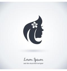 Beautiful woman Logo vector image vector image