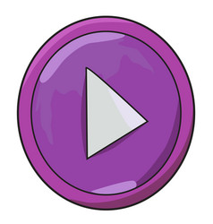 cartoon image of play button icon play symbol vector image
