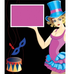 circus performer vector image vector image