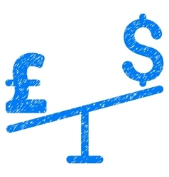 Dollar pound swing grainy texture icon vector