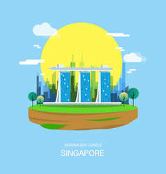 maina bay sands landmark and attractive city in vector image vector image