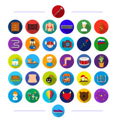 Nature textiles business and other web icon in vector