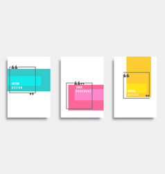 Abstract cover template design set vector