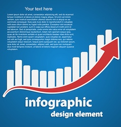 Abstract infographic as a graph and arrow Business vector image