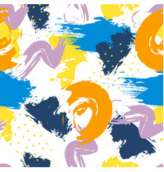 abstract seamless pattern with brush strokes in vector image