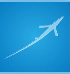 Airplane symbol design vector
