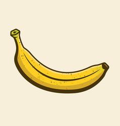 Banana yellow cartoon design element vector