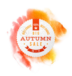 Big autumn sale best choice circle banner vector