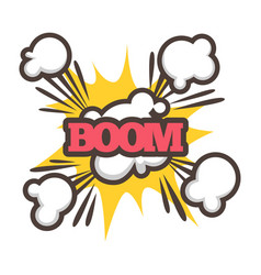 Big boom with sparkle and dust isolated vector