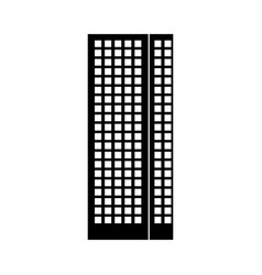 Black icon tall building vector