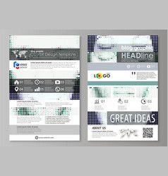 Blog graphic business templates page website vector