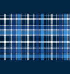 Blue abstract check textile seamless pattern vector