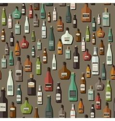 Bottles pattern vector image