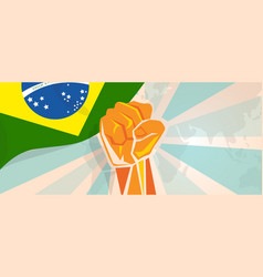 brazil fight and protest independence struggle vector image
