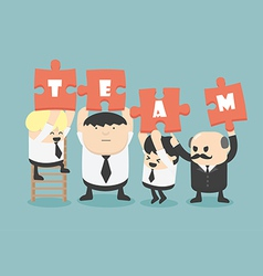 business man team work vector image