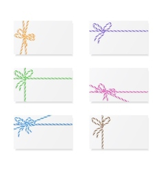 Card notes with gift bows vector image
