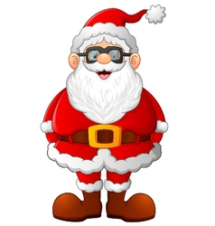 Cartoon santa posing vector