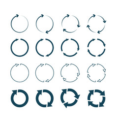 circle arrows right round arrows right pointing vector image