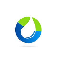 Clean water eco bio logo vector