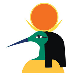 clipart an egyptian god music writing vector image