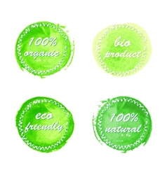 Collection of ecology product labels vector image