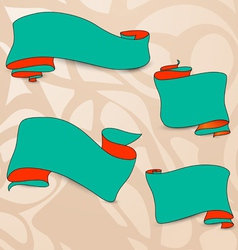 Collection of the perfect hand drawn ribbons vector image