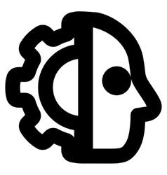 Cyborg Stroke Icon vector