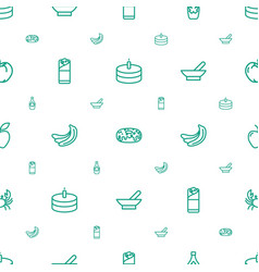 Delicious icons pattern seamless white background vector