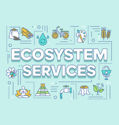 Ecosystem services word concepts banner vector