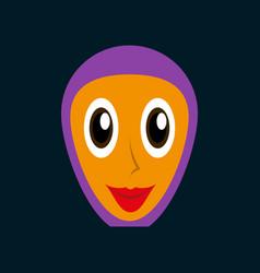 Flat icons on theme arabic business arabic woman vector