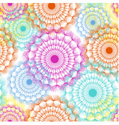 floral seamless pattern with colorful dandelion vector image