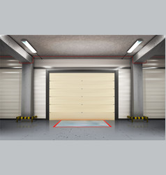 Garage room vector