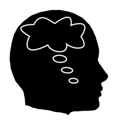 Head thought bubble vector