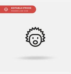 hedgehog simple icon symbol vector image