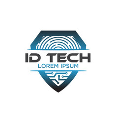 id tech logo designs vector image
