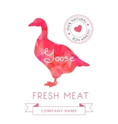 Image meat symbol goose silhouettes of animal for vector